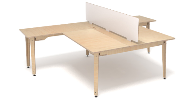 L-shaped cluster workstation 201