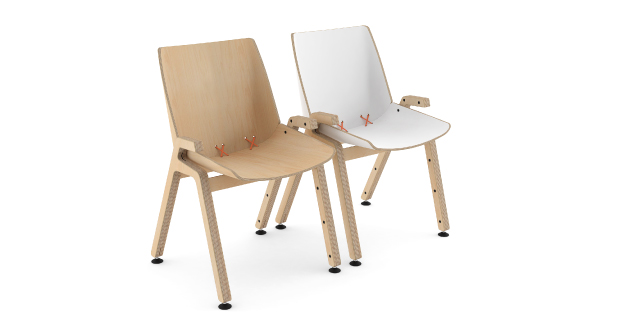 stak chair wood
