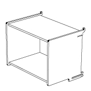 klik™ large box shelf open