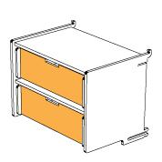 klik™ double drawer 6