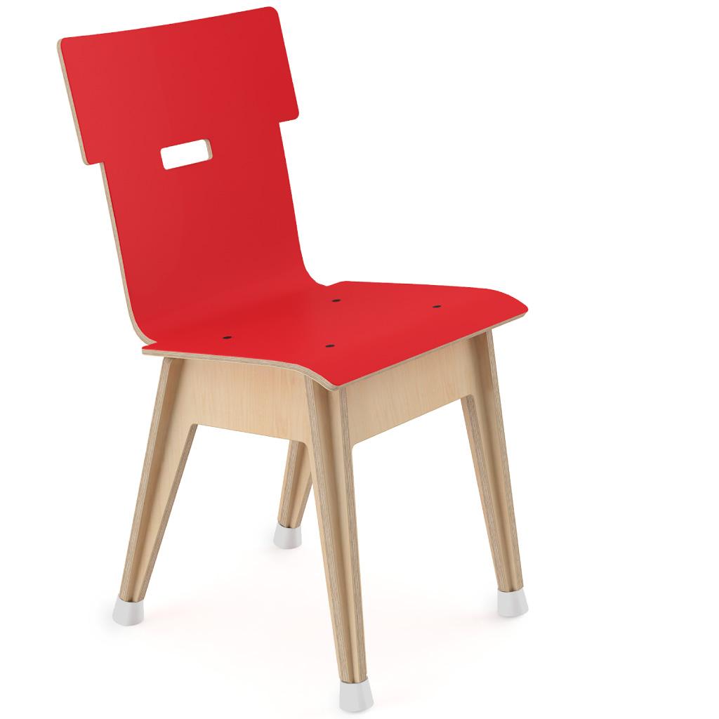 Din+™ Chair 100 (Carmine Red HPL)