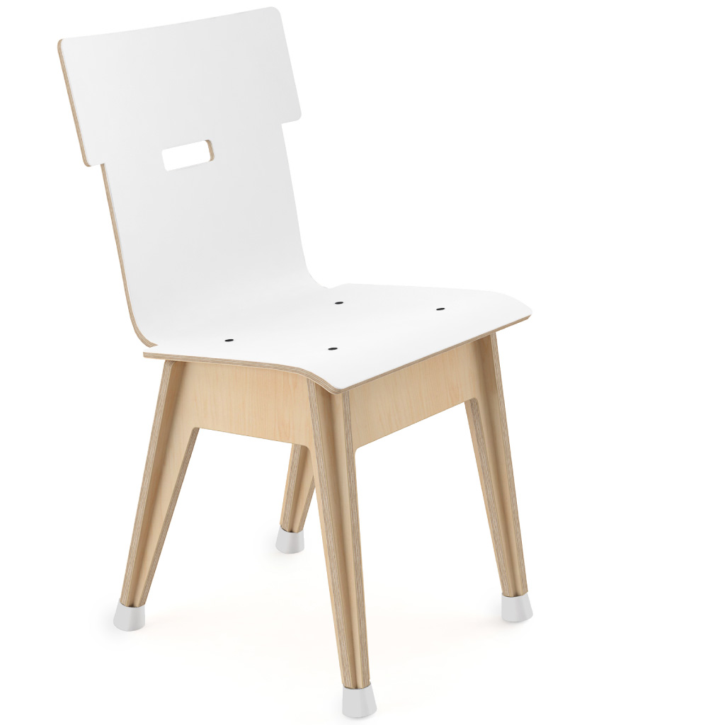 Din+™ Chair 100 (Icy White HPL)