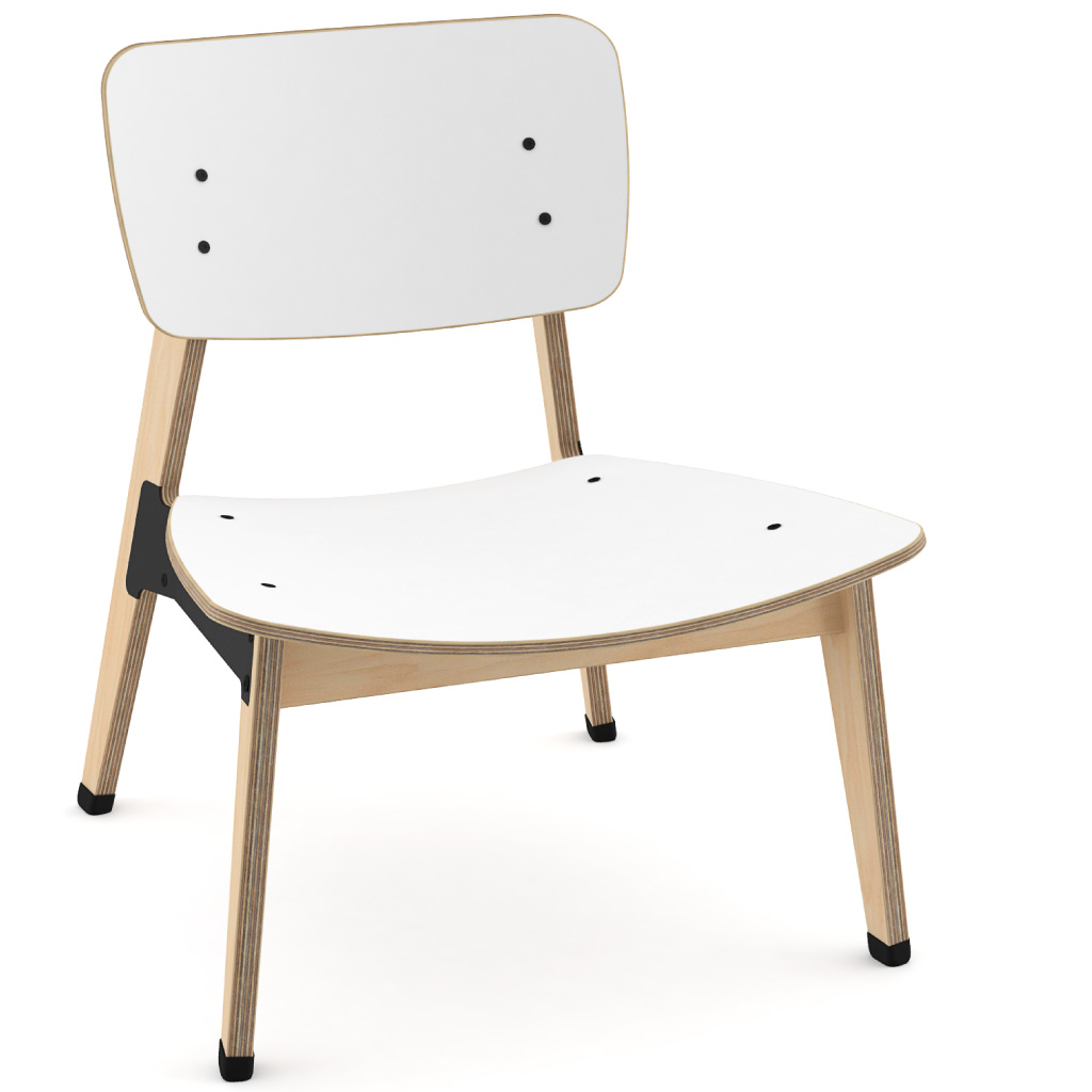 Ohtwo™ Occasional Chair 101 (Icy White HPL)