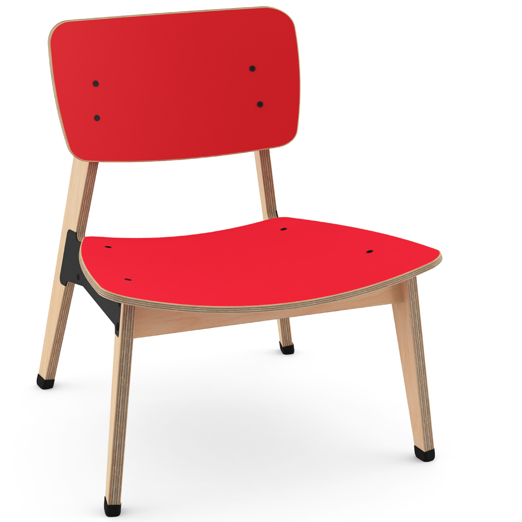 Ohtwo™ Occasional Chair 101 (Carmine Red HPL)