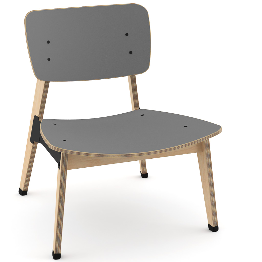 Ohtwo™ Occasional Chair 101 (Storm Grey HPL)