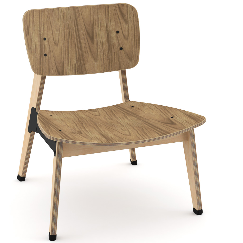 Ohtwo™ Occasional Chair 101 (Walnut HPL)
