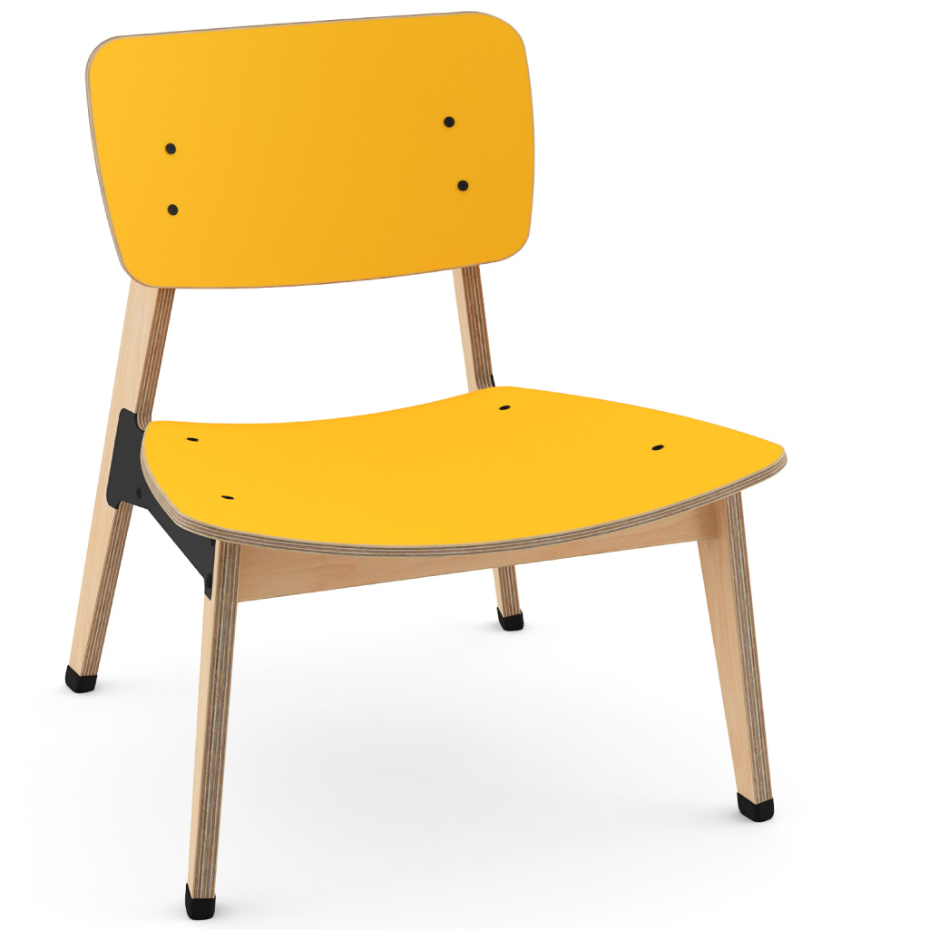 Ohtwo™ Occasional Chair 101 (Egg Yolk HPL)