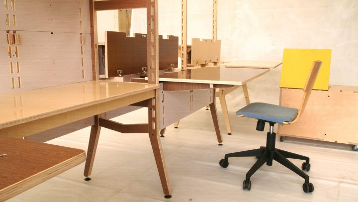 Spyne Raw Studios New Modular Office furniture plywood sytem range