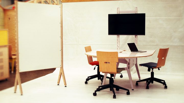 Spyne Raw Studios New Modular Office furniture sytem range meeting