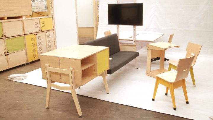 Spyne Raw Studios New Modular Office furniture sytem range