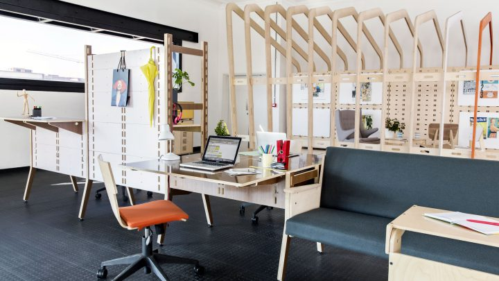 Raw Studios Spyne System Worklife Designer office furniture