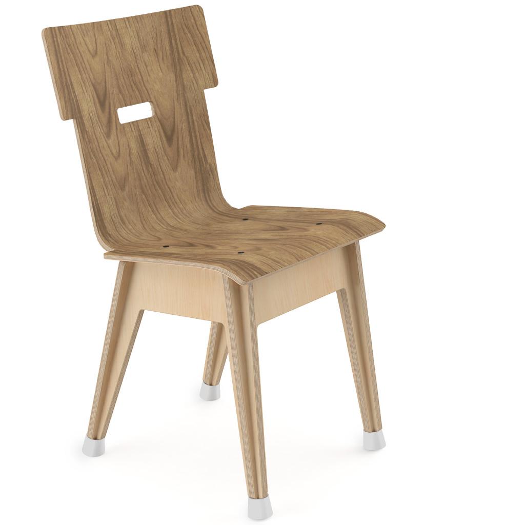 Din+™ Chair 100 (Walnut HPL)