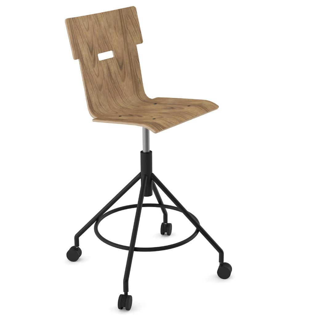 Handi Chair Tall 102 (Walnut HPL)