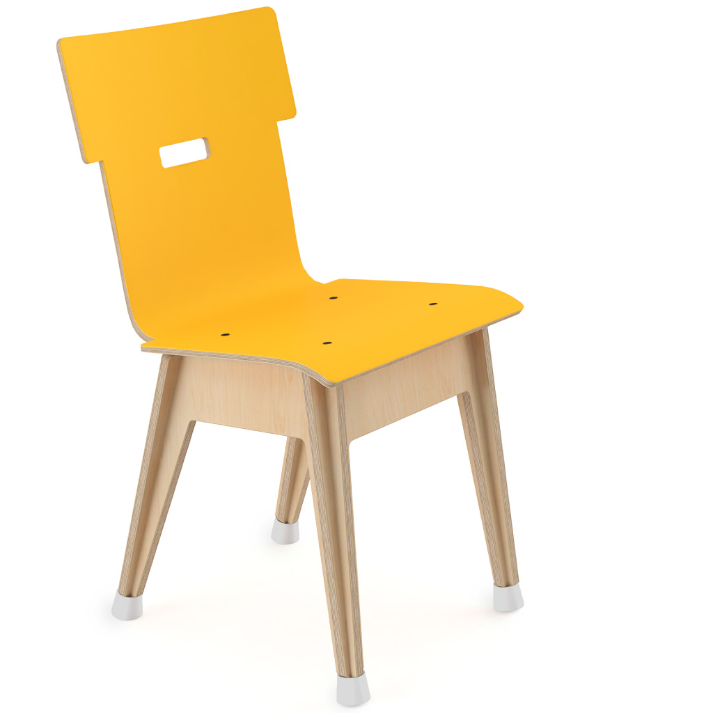 Din+™ Chair 100 (Egg Yolk HPL)