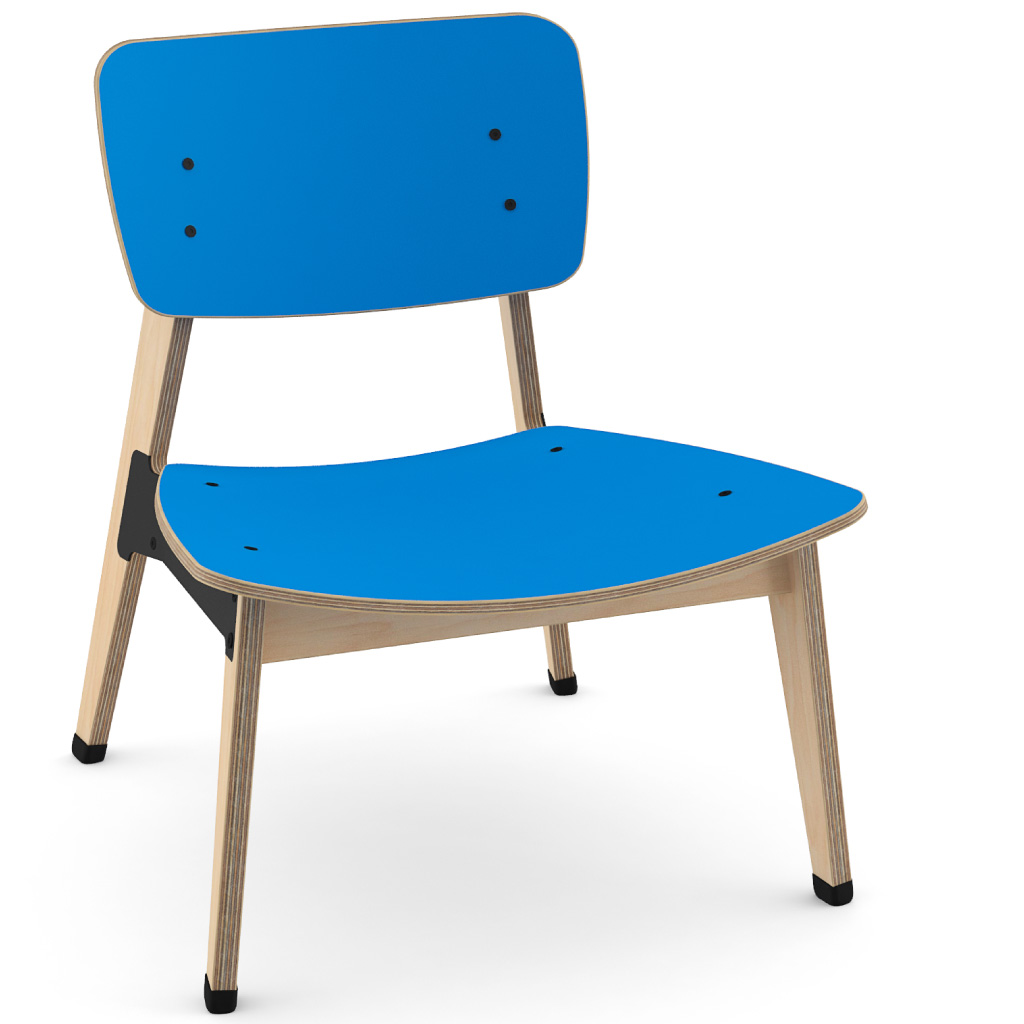Ohtwo™ Occasional Chair 101 (Ultra Blue HPL)