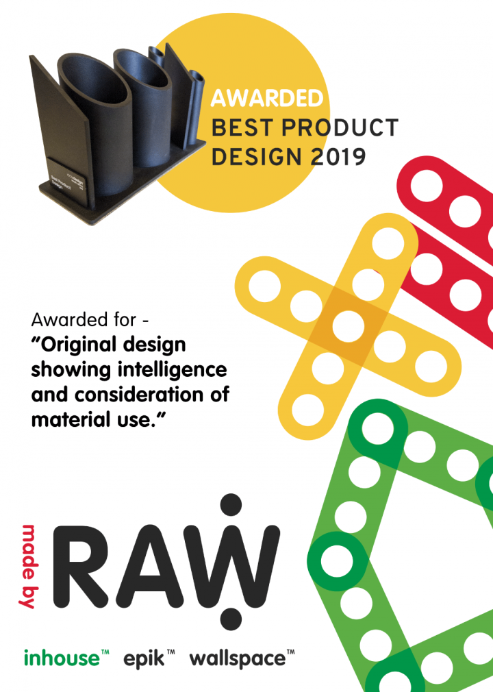 RAW Studios 100% Design 2019 Best Product Design Award