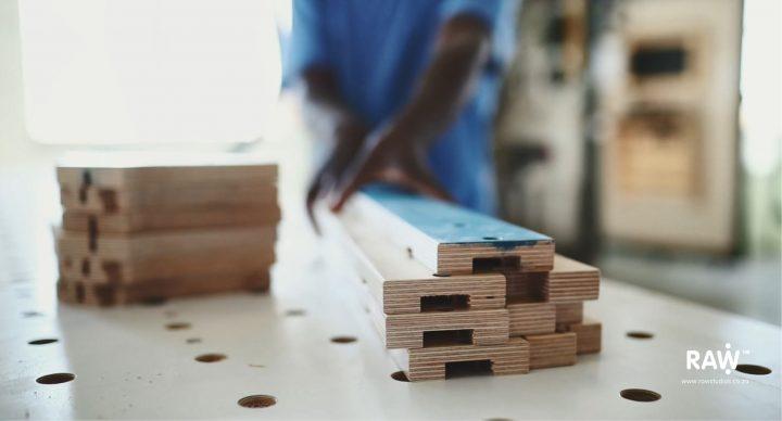 RAW Studios' highly adaptable Epik plywood furniture leg component