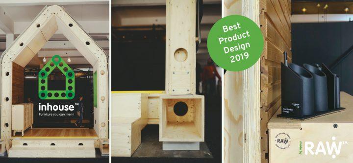 RAW Studios 100% Design 2019 Best Product Design Award Inhouse