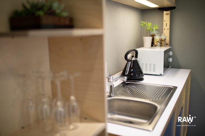 Zenkaya prefab living unit interior kitchen furniture